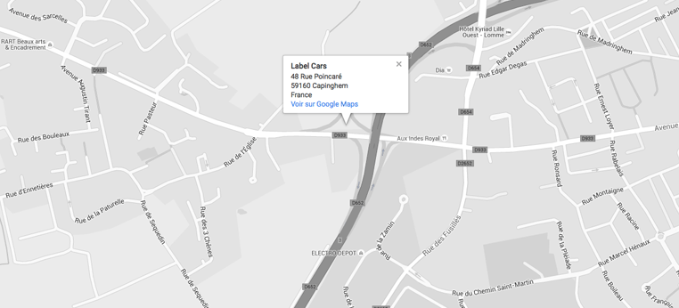 carte google de label cars capinghem